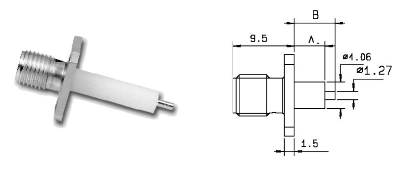 SMA connector dimensions