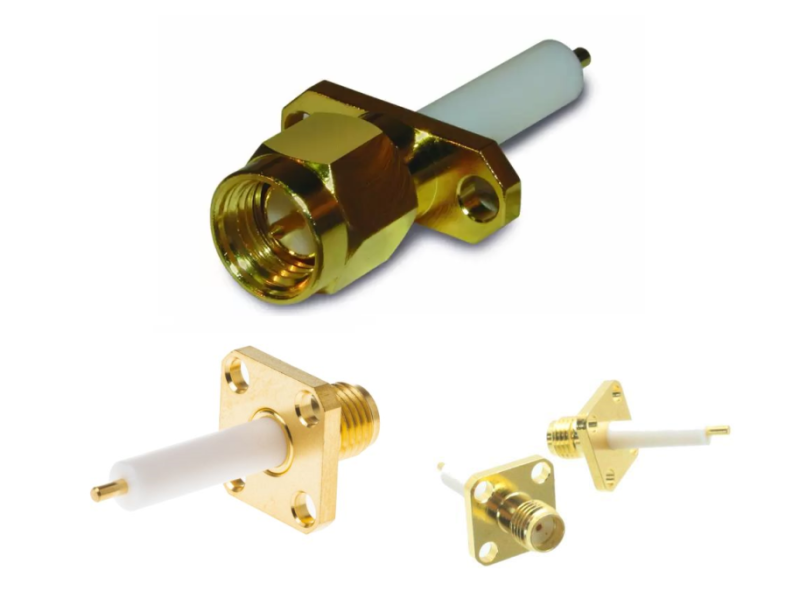 SMA Connector - Extended Dielectric Receptacles