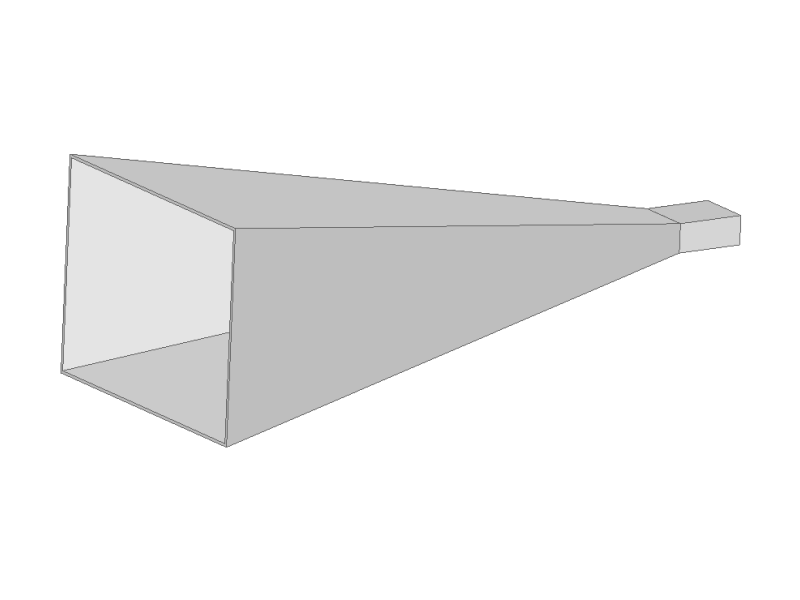 Quarter of a conventional pyramidal horn